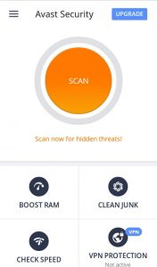 Avast Antivirus app for mobile