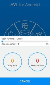 AVL antivirus app for Android