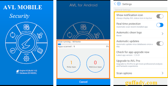 AVL antivirus app for android  security