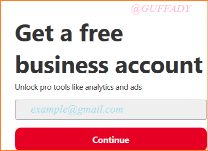 pinterest free business account