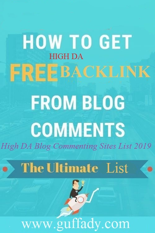 100+ High DA Blog Commenting Sites List 2020